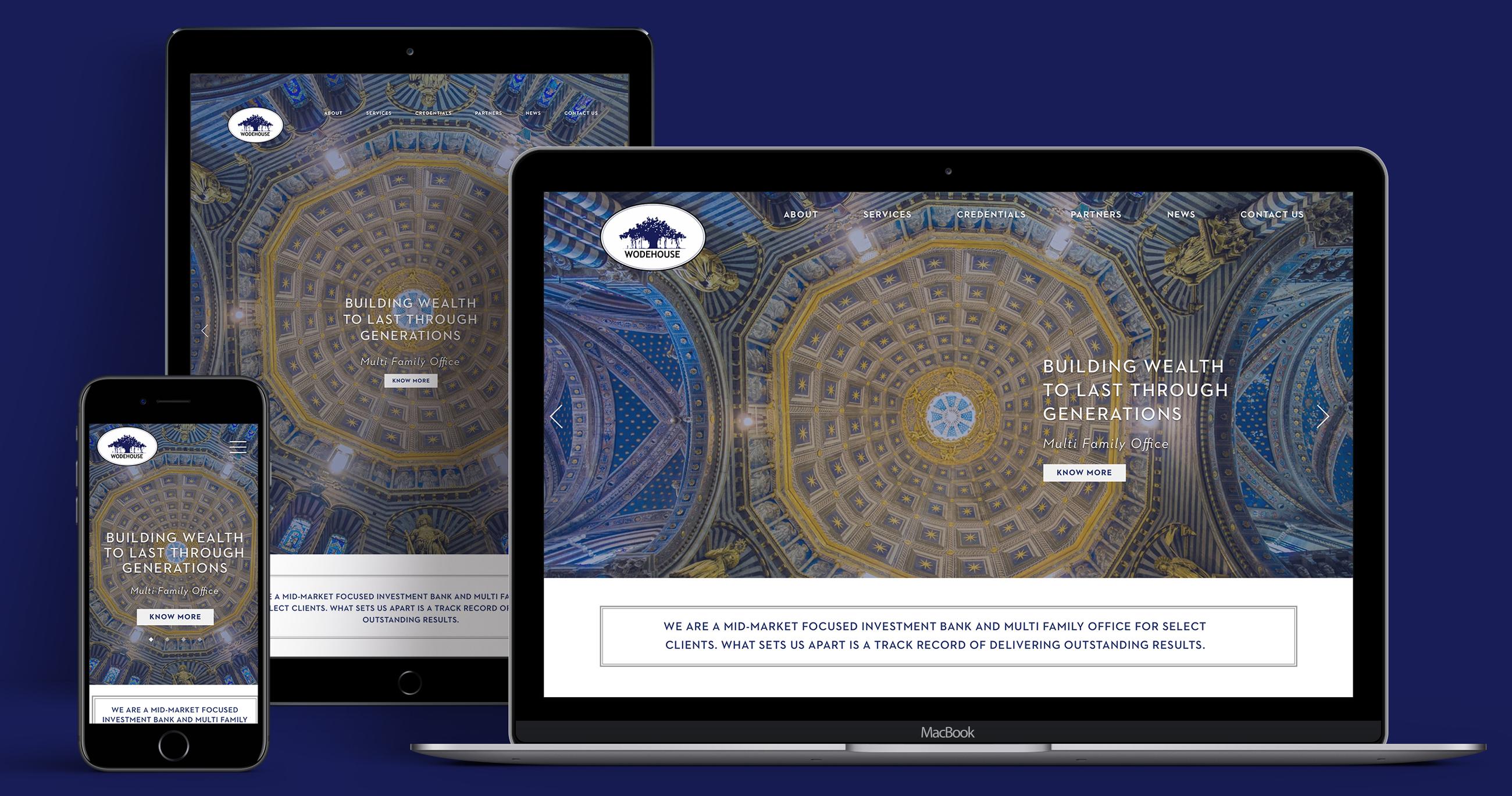 Apart Design Bank.Website Design Wodehouse Capital Nh1design